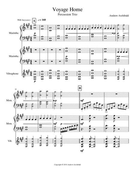 Voyage Home (Percussion Trio)