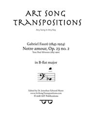 Notre amour, Op. 23 no. 2 (B-flat major, bass clef)