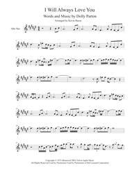 I Will Always Love You (Sax Solo Included) - Alto Sax