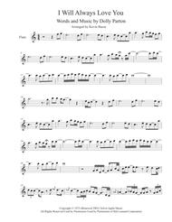 I Will Always Love You (Easy key of C) - Flute