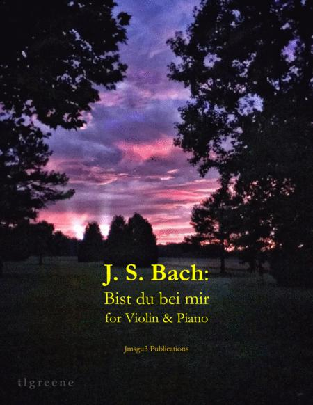 Bach: Bist du bei mir BWV 508 for Violin & Piano