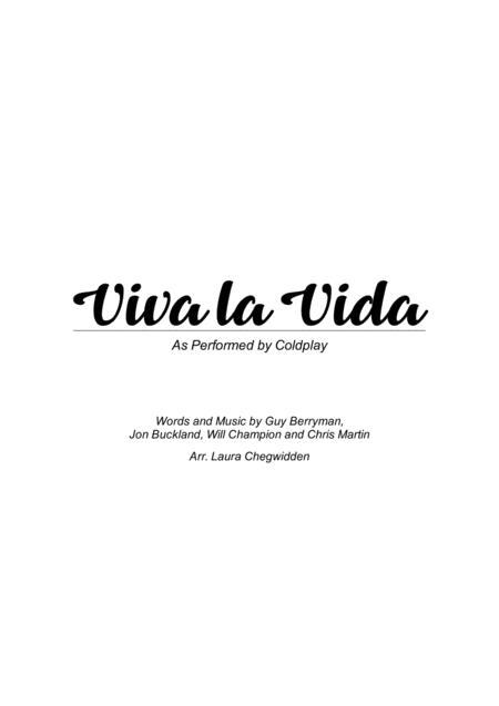 Viva La Vida for String Trio (Violin)