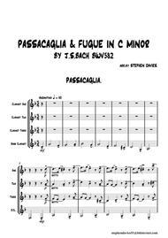 Passacaglia & Fugue in C Minor BWV832 by J.S.Bach for Clarinet Quartet.