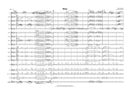 Download Misty Bari Sax Solo With Big Band Sheet Music By