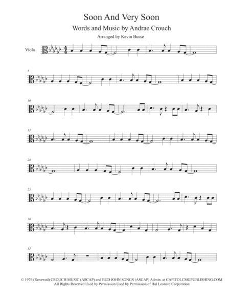 Soon And Very Soon (Original Key) - Viola