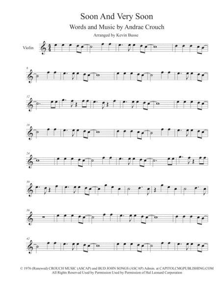 Soon And Very Soon (Easy key of C) - Violin