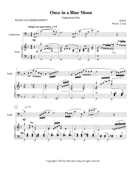 Once in a Blue Moon-for Solo Euphonium and Piano