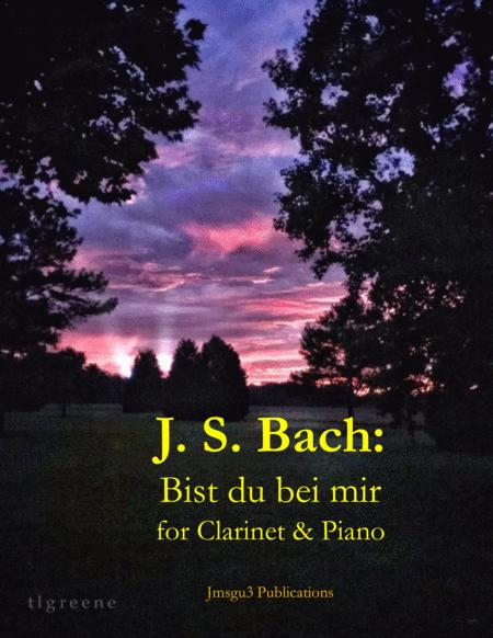 Bach: Bist du bei mir BWV 508 for Clarinet & Piano