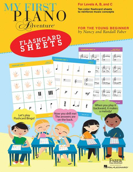 My First Piano Adventure Flashcard Sheets