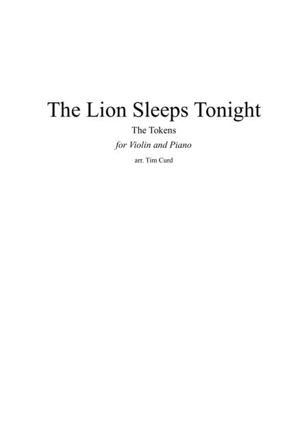 The Lion Sleeps Tonight for Violin and Piano