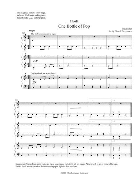 One Bottle of Pop (1 Piano/6 Hands)