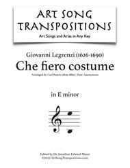Che fiero costume (E minor)