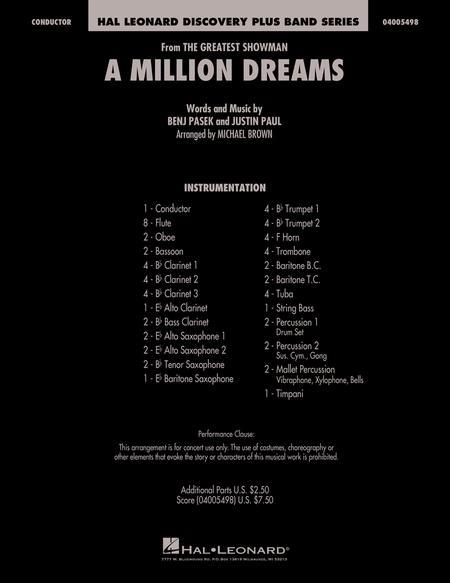 A Million Dreams - Full Score