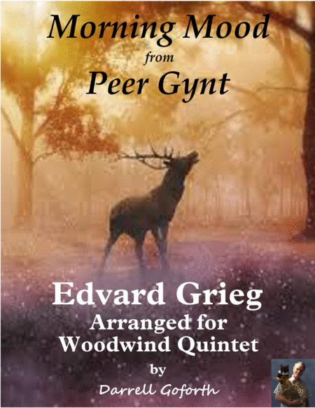 Morning Mood from Peer Gynt for Woodwind Quintet