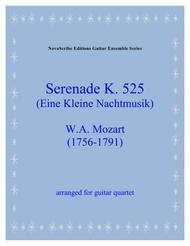 Serenade  K. 525  (Eine Kleine Nachtmusik)  arr. for guitar quartet