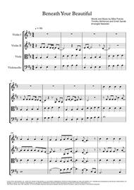Beneath Your Beautiful - String Quartet Score and Parts