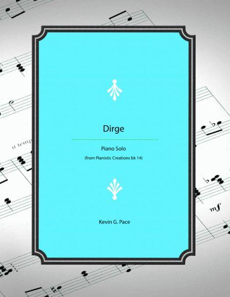 Dirge - original piano solo