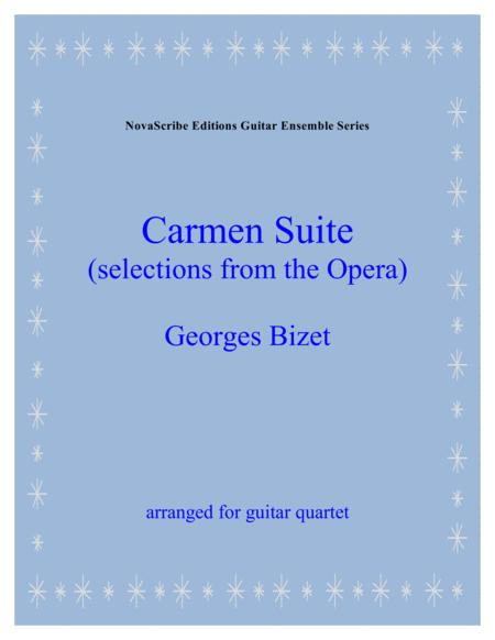 Carmen Suite (selections from the opera)  arr. for guitar quartet