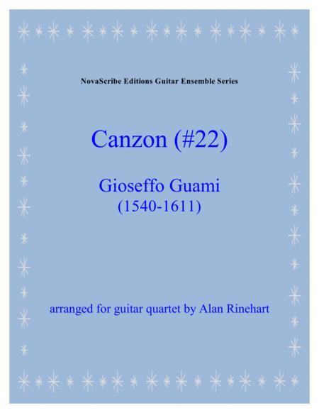 Canzon (#22)  arr. for guitar quartet