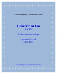 Concerto in Em (for bassoon and strings) R. V. 484   arranged for guitar quartet