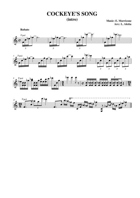 Download Cockeye's Song Sheet Music By Ennio Morricone - Sheet Music