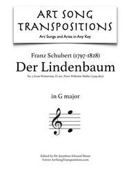 Der Lindenbaum, D. 911 (G major)