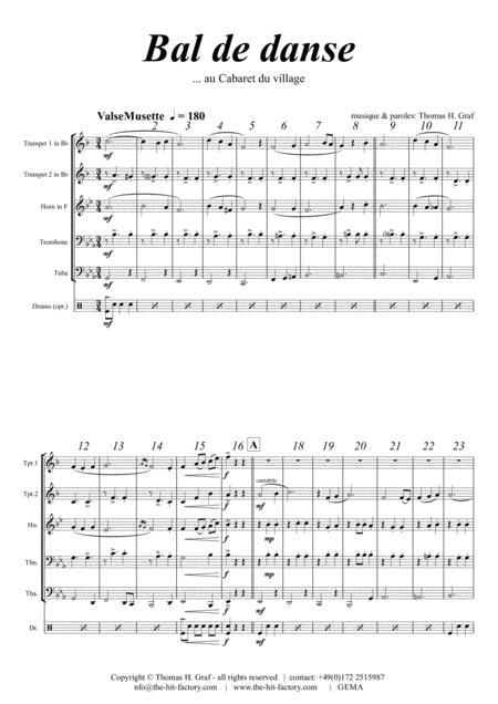 Ball de Danse - Musette Waltz - Brass Quintet - Arrangement: Thomas H. Graf