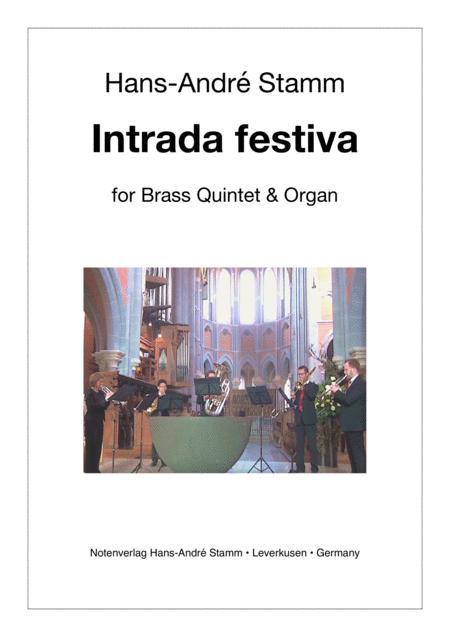 Intrada festiva for brass quintet & organ