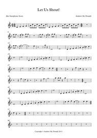 Let Us Shout Bb Tenor Saxophone Score
