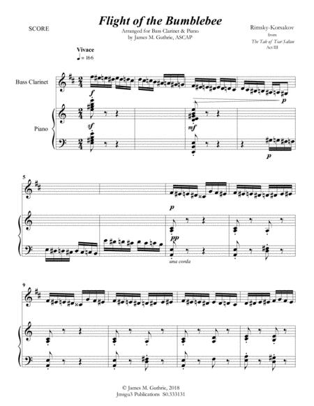 Korsakov: Flight of the Bumblebee for Bass Clarinet & Piano