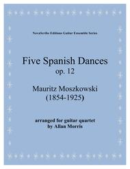 Five Spanish Dances op. 12  arr. for guitar quartet
