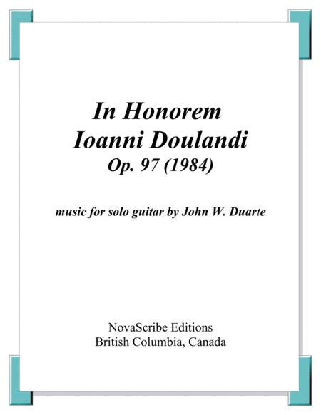 In Honorum Ioanni Doulandi op. 97 (1984)