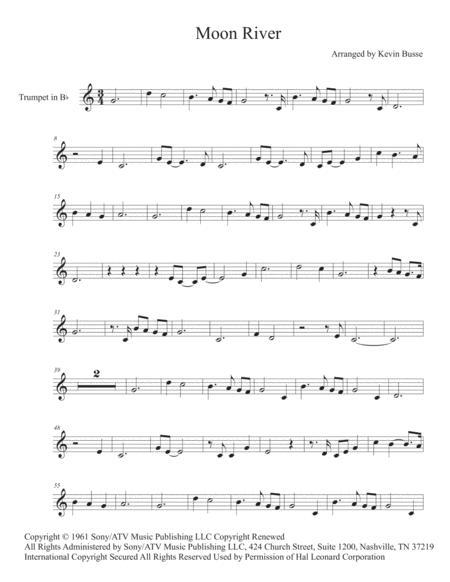 Moon River (Easy key of C) - Trumpet