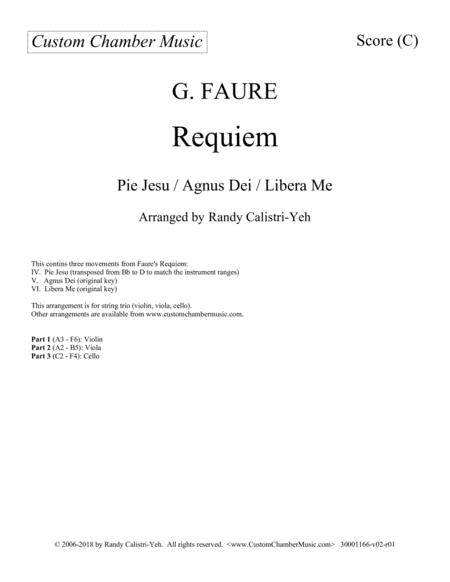 Faure Requiem (string trio)