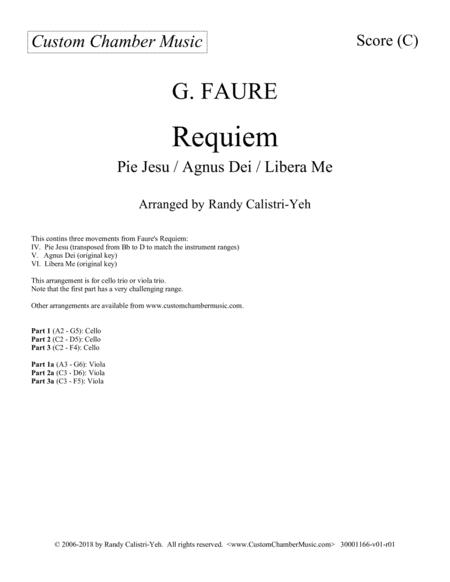 Faure Requiem (cello trio or viola trio)