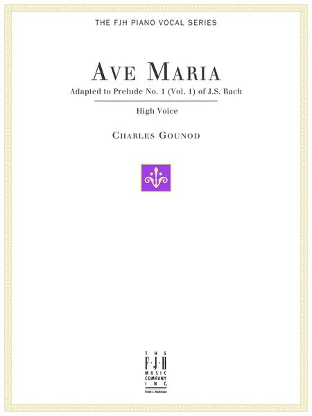 Ave Maria, For High Voice and Piano