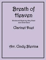 Breath Of Heaven (Mary's Song), arranged for Clarinet Duet