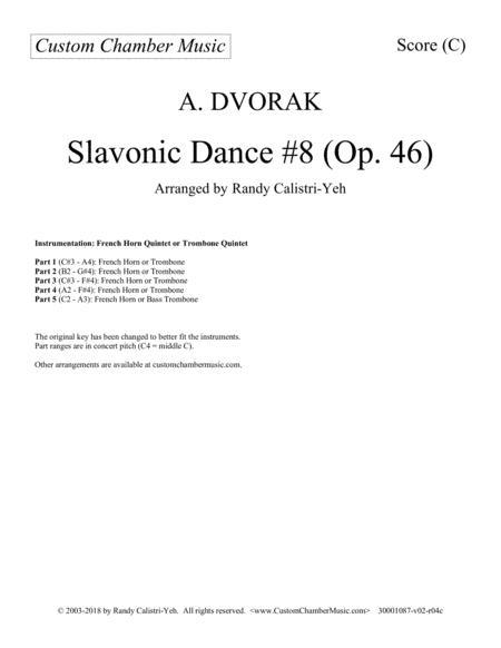 Dvorak Slavonic Dance #8 (French horn quintet or trombone quintet)