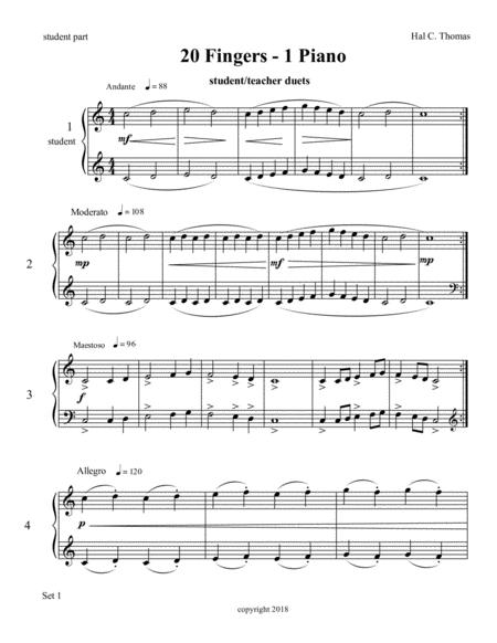 Bupkis for one piano, four hands - set one - student part