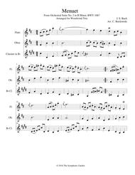 Bach - Menuet from Orchestral Suite No. 2 in B Minor - woodwind trio (flute, oboe, clarinet)