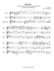 Bach - Menuet from Orchestral Suite No. 2 in B Minor - double reed trio (2 oboes and English horn)