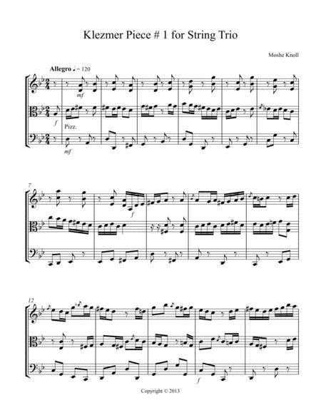 Klezmer Piece # 1 for String Trio