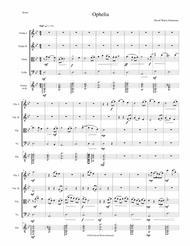 Ophelia for string quartet and guitar