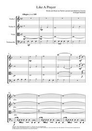 Like A Prayer - String Quartet Score and Parts