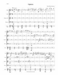 Ophelia for wind quartet and guitar
