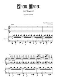 A. Khachaturian - Sabre Dance - piano 4 hands