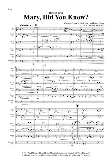 Mary, did you know? - Pentatonix Style - Brass Trio