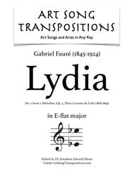 Lydia, Op. 4 no. 2 (E-flat major)
