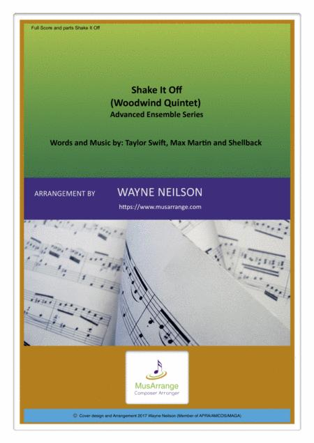 Shake It Off for Woodwind Quintet