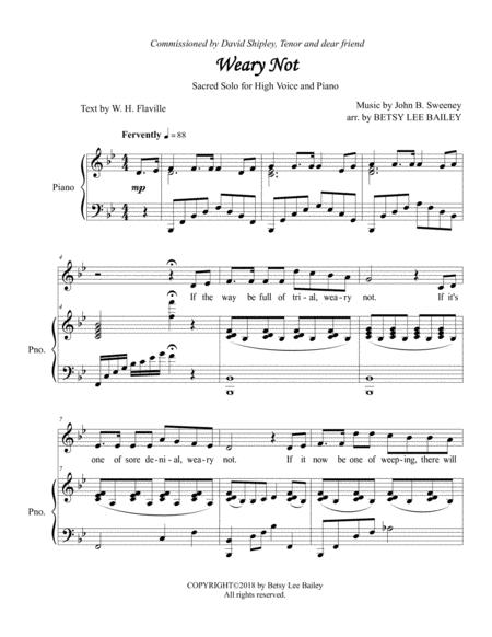 Weary Not - Sacred Solo for High Voice
